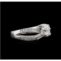 1.35ctw Diamond Ring - 18KT White Gold