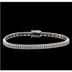 2.09ctw Diamond Bracelet - 18KT White Gold