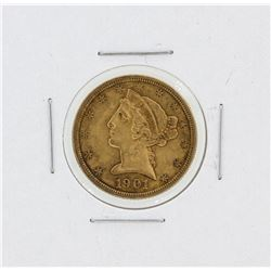 1901-S $5 XF Liberty Head Half Eagle Gold Coin