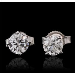 14KT White Gold 0.92ctw Diamond Solitaire Earrings