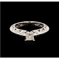 14KT White Gold 0.91ctw Diamond Ring