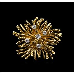 Tiffany & Co. 0.25ctw Diamond Pin - 18KT Yellow Gold