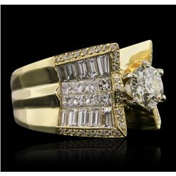 18KT Yellow Gold 3.51ctw Diamond Ring