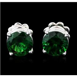 14KT White Gold 2.72ctw Tsavorite Earrings