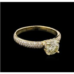 1.32ctw Diamond Ring - 14KT Yellow Gold