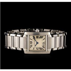 Cartier Stainless Steel Tank Francaise Ladies Watch