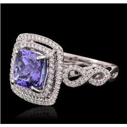 18KT White Gold 3.33ct Tanzanite and Diamond Ring