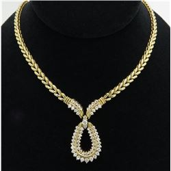 2.95ctw Diamond Necklace - 14KT Yellow Gold
