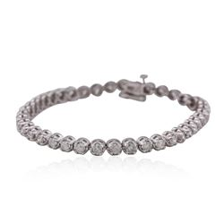 14KT White Gold 3.02ctw Diamond Tennis  Bracelet