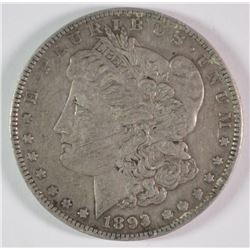 1893 MORGAN DOLLAR XF+ KEY COIN