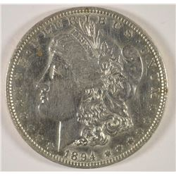 1894-O MORGAN DOLLAR AU/BU CLEANED