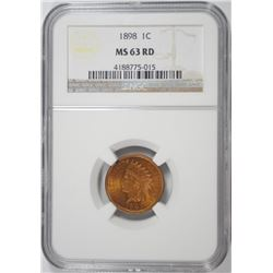 1898 INDIAN CENT NGC MS-63 RD