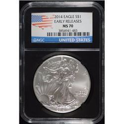 2014 AMERICAN SILVER EAGLE NGC MS70 - RETRO HOLDER