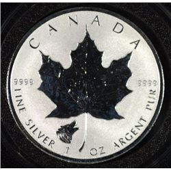 2016 1 Oz $5 Silver Maple Leaf WOLF Privy Reverse Proof