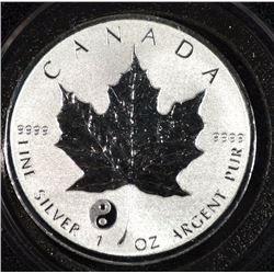 2016 1 oz Silver Canadian Maple Leaf Yin Yang Privy Reverse Proof $5 Coin