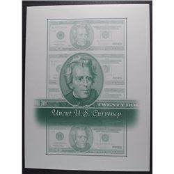 UNCUT 2006  $20 x 4 FEDERAL RESERVE CURRENCY SHEET CRISP UNC IN FOLDER