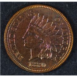 1880 INDIAN HEAD CENT BEAUTIFUL TONED UNC