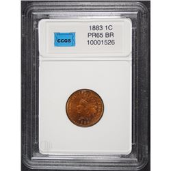 1883 INDIAN HEAD CENT CCGS GEM PROOF BROWN  SCARCE