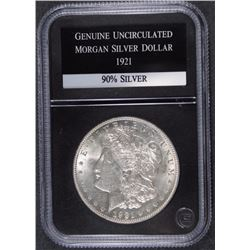 1921 MORGAN SILVER DOLLAR BU - PCS GUARANTEED