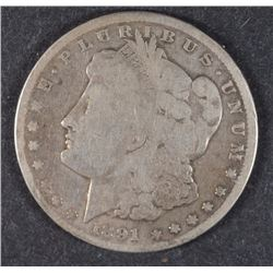 1891-CC MORGAN SILVER DOLLAR GOOD