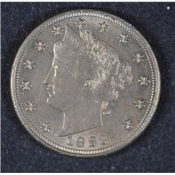 "1883 LIBERTY ""V"" NICKEL without Cent BU"
