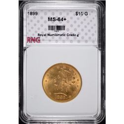 1899 $10 Liberty Head Gold Eagle RNG CH BU+