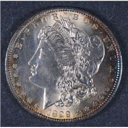 1899-S MORGAN SILVER DOLLAR GEM BU CLEANED