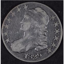 1829 CAPPED BUST HALF DOLLAR VF+