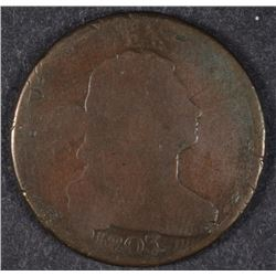 1803 DRAPED BUST LARGE CENT AG/G WITH SCRATCHES