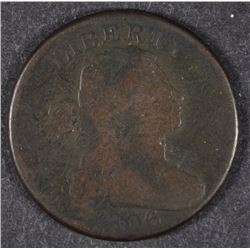 1806 DRAPED BUST LARGE CENT VG WITH POROUS SURFACES