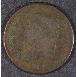 1813 CLASSIC HEAD LARGE CENT VG   HAS SOME CORROSION