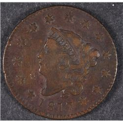 1817 LARGE CENT VF SOME SCRATCHES ON REVERSE