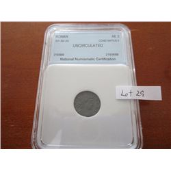 Roman coin Constantius 2 337-355 AD Graded uncitculated