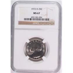 1972-D WASHINGTON QUARTER NGC MS67 SUPER!
