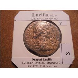 149-182 A.D. LUCILLA ANCIENT COIN (FINE)