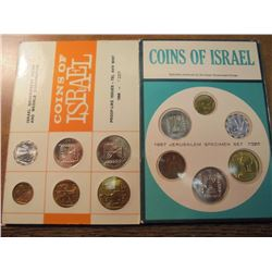 ISRAEL 1966 (PF LIKE) & 1967 JERUSALEM SPECIMEN SETS, ORIGINAL MINT PACKAGING