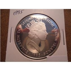 1985 BRITISH VIRGIN ISLANDS $20 SILVER PROOF
