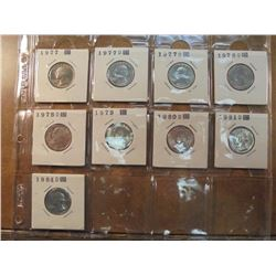 9 UNC WASHINGTON QUARTERS SEE DESCRIPTION 1977, 2-1977-D, 2-1978-D, 1979, 1980-D, 1981-D & 1984-D, 9