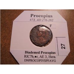 276-282 A.D. PROCOPIUS ANCIENT COIN (FINE)