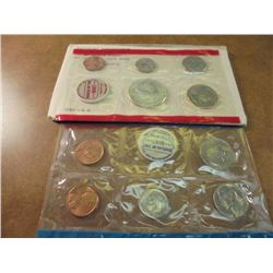 1969 US MINT SET (UNC) P/D/S (WITH ENVELOPE) 40% SILVER JOHN F. KENNEDY HALF DOLLAR, THIS IS AN OFFI