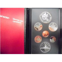 1983 CANADA DOUBLE DOLLAR PROOF SET EDMONTON ORIGINAL ROYAL CANADIAN MINT PACKAGING
