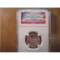 2002-S SILVER TENNESSEE QUARTER NGC PF69 ULTRA CAMEO