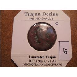 249-251 A.D. TRAJAN DECIUS ANCIENT COIN