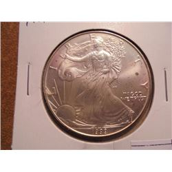 1999 AMERICAN SILVER EAGLE UNC LITTLE TONING SPOTS ON OBV. AND REV.