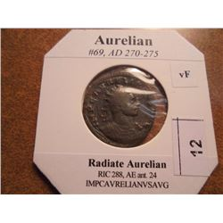 270-275 A.D. AURELIAN ANCIENT COIN VERY FINE