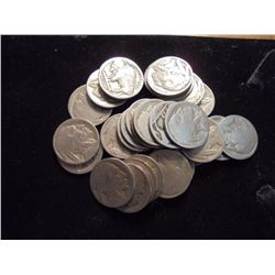 30 UNDATED BUFFALO NICKELS