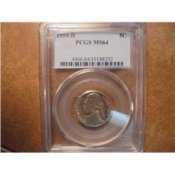 1959-D JEFFERSON NICKEL PCGS MS64