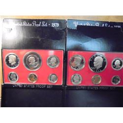 1978 & 1979 US PROOF SETS (WITH BOXES)