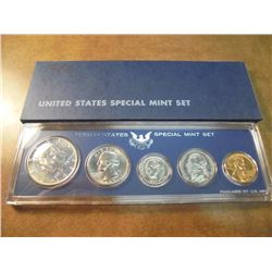 1966 US SPECIAL MINT SET WITH BOX 40% SILVER JOHN F. KENNEDY HALF DOLLAR