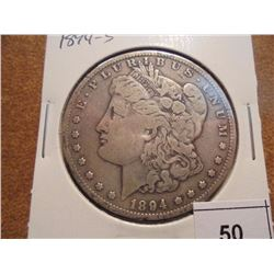 1894-S MORGAN SILVER DOLLAR BETTER DATE COIN